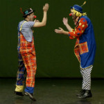 Pilgrim's Rock Blog Posts by Dr. Craig Biehl - How to Refuse a Bit Part in an Idiot's Tale - Two clowns giving high five
