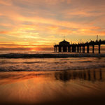 Presuppositions of Faith (6 of 6): The Trinity - sunset with pier in ocean