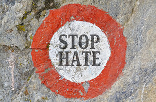 God Is Love and He Hates Things - Weekly Blog Post by Dr. Craig Biehl - stop hate logo
