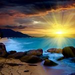 Gleanings from The Religious Affections (Part 17): Distinguishing Sign Two: Gracious Affections Stand on the Excellence of God, Apart from Self-Interest - Weekly Blog Post by Dr. Craig Biehl - colored sunset over ocean