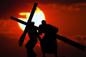 Gleanings from The Religious Affections (Part 23): Distinguishing Sign Eight: Gracious Affections Produce a Christ-Like Demeanor - Weekly Blog Post by Dr. Craig Biehl - Christ and Simon of Cyrene carrying the cross