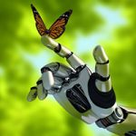 The Human Limitations of Unreasonable Atheism (Part 4): Naturalism - Weekly Blog Post by Dr. Craig Biehl - mechanical arm and a butterfly