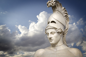 "The Human Limitations of Unreasonable Atheism (Part 12): ""Definitional Disproofs"" (Part B) - Weekly Blog Post by Dr. Craig Biehl - Greek sculpture of Pericles against cloudy sky"
